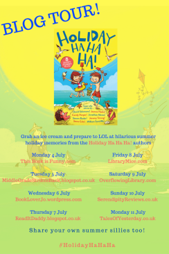 Holiday Ha Ha Ha blog tour banner
